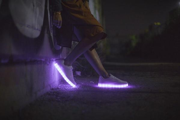 chaussure lumineuse tendance