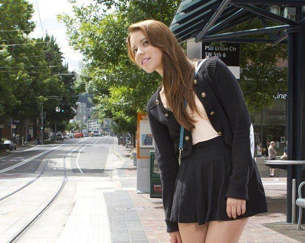 mini jupe noire simple