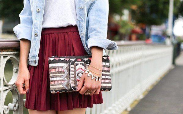 mini jupe plissée vintage