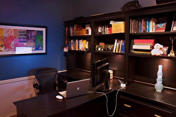 bureau dos mur