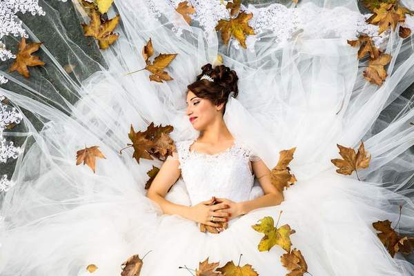 Une mariée en extase