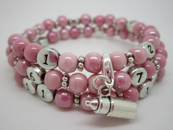 Etsy Bracelet allaitement Tresor porcelaine rose